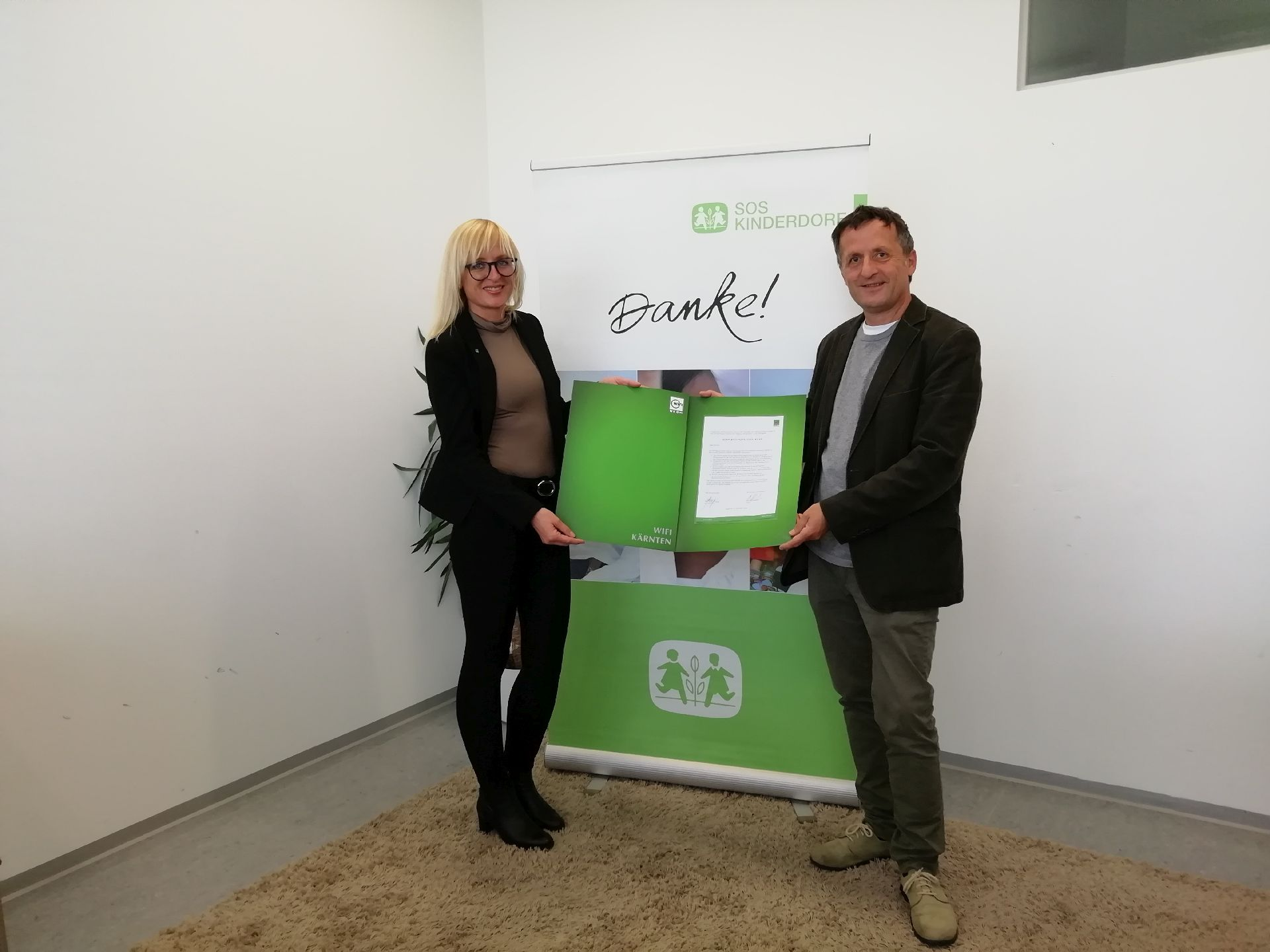 Kooperation WIFI Kärnten und SOS Kinderdorf