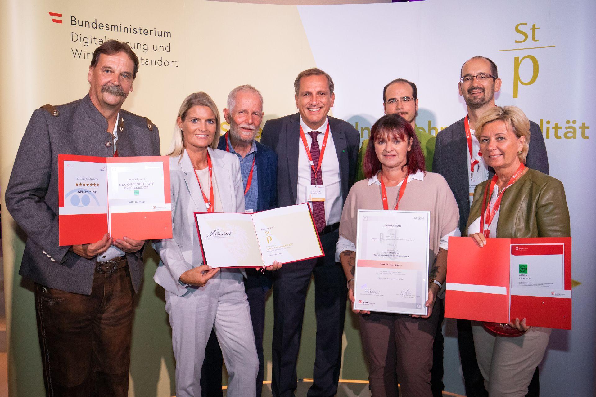 Das WIFI Kärnten zählt weiterhin zu den exzellenten Unternehmen Österreichs